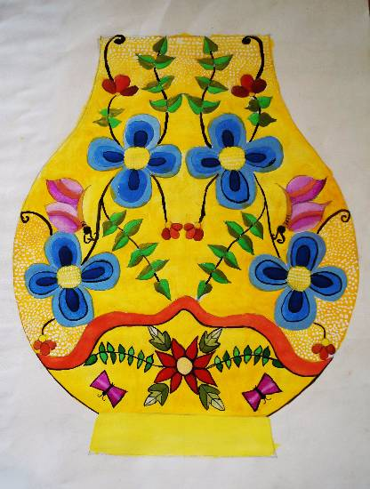 painting by Tanay Nikheel Kelkar - Flower pot