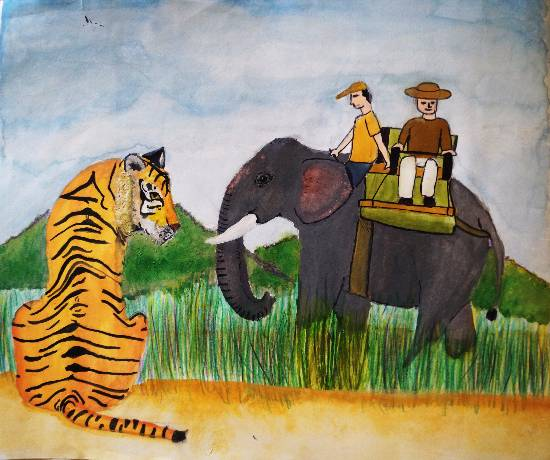 painting by Tanay Nikheel Kelkar - Wildlife