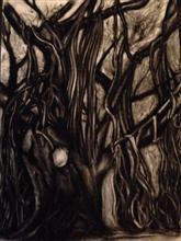 L'arbre de la nuit, painting by Shibani Surkund
