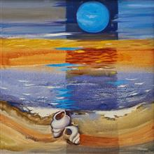 Blue Moon,Painting by Asmita Jagtap