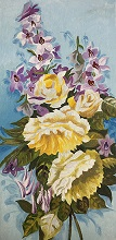 Rose painting by Poonam Juvale