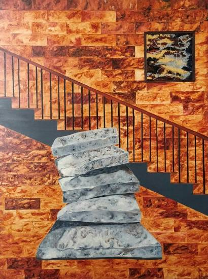 Threshold, painting by Ambika Wahi