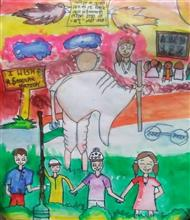 Painting  by Anvi Patel - Swachh Bharat