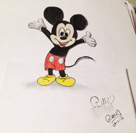 Painting  by Chinmayee Amol Sane - 3D Mickey