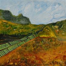 dyllic valley - II, Painting by Artist Vinay Sane, 