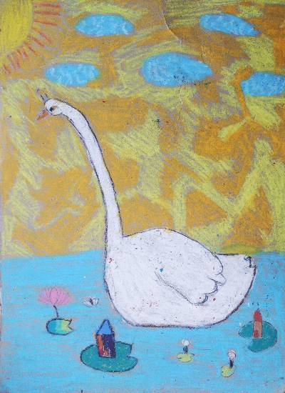 Painting  by Mihika Swapnil Parulekar - A Swan
