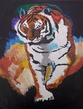 Painting  by Sahil Anand Kanojiya - Tiger