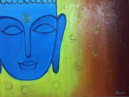 Lord Buddha, painting by Prisha Hiren Ajmera
