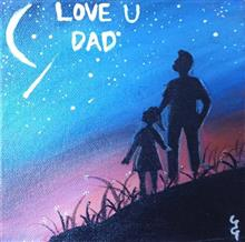 Painting  by Prisha Hiren Ajmera - Love you Dad