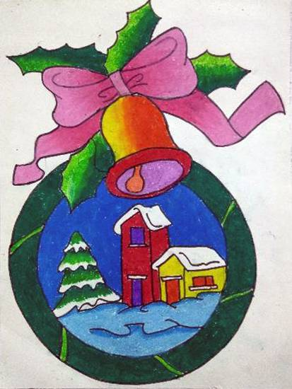 Painting  by Janhavi Deodhar - Christmas