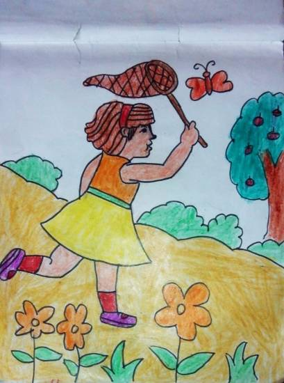Painting  by Aaryan Umesh Kulkarni - Girl