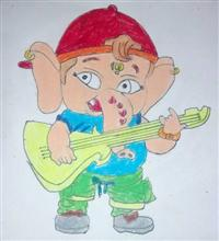 Painting  by Aaryan Umesh Kulkarni - Ganesha - 3