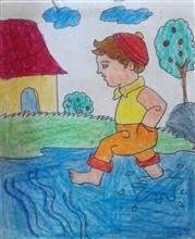 Painting  by Aaryan Umesh Kulkarni - Boy