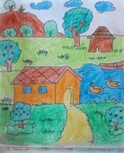 Painting  by Aaryan Umesh Kulkarni - House