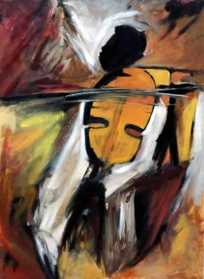 Towards Crescendo, painting by Milon Mukherjee
