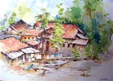 Houses - In stock painting