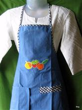 Waterproof Kitchen Apron (full) with detachable napkin, by Asmita Ghate