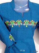 Cotton Top - Handpainted design, by Asmita Ghate