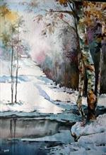 The First Snows of Autumn, Painting by Asmita Ghate