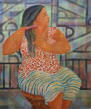 Leisure, Painting by Kabari Banerjee