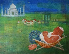 Bhadralok - An exhibition of paintings by Kabari Banerjee