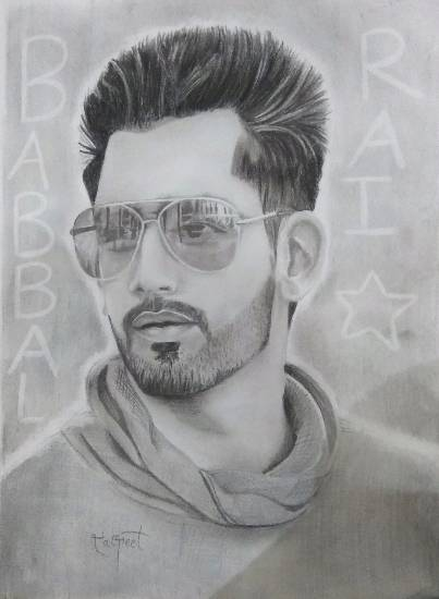 painting by Daljeet Kaur - Portrait