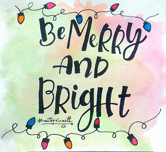 Painting  by Kovuru Vineeth Kumar - Merry and bright