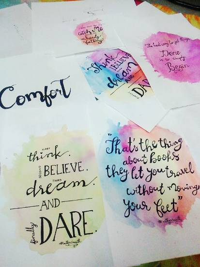 Painting  by Kovuru Vineeth Kumar - Calligraphy Quotes