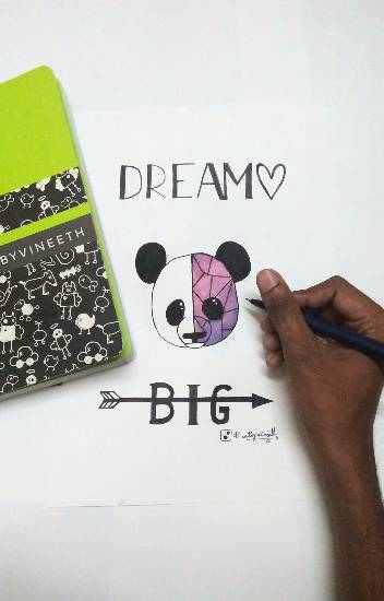 Painting  by Kovuru Vineeth Kumar - Dream Big