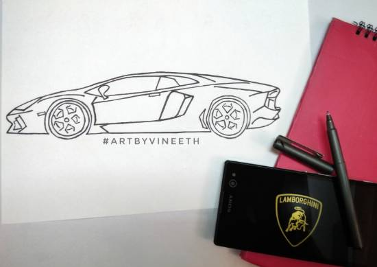 Lambo, painting by Kovuru Vineeth Kumar
