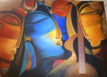Radha, Krishan, Meera, painting by Sharmila