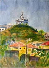 Painting by Vikram Jadhav - Temple