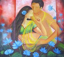 Samarpan, painting by Priyanka Goswami