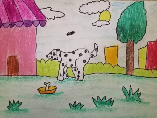painting by Aarav Kanekar - Dog