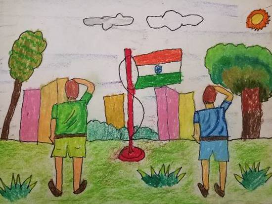 Painting  by Aarav Kanekar - Republic day