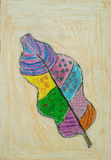 Painting  by Ananya Satish Pisharody - Multi colour Leaf