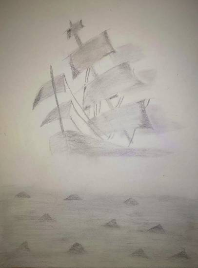 Painting  by Ananya Satish Pisharody - Ship