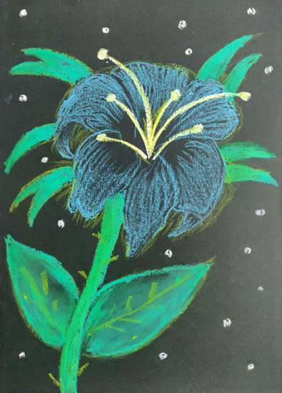 Painting  by Ananya Satish Pisharody - Flower