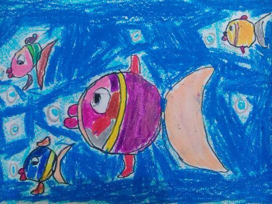 Painting  by Anay Advait Joshi - Fishes