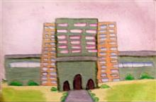 Painting  by Antara Shivram Desai - School building