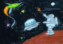 Painting  by Antara Shivram Desai - Space Science