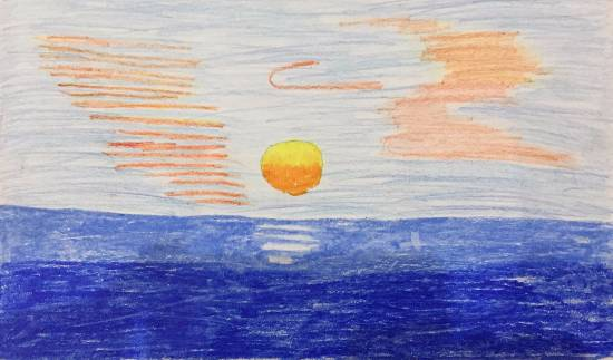 Sunset, painting by Anushka Swapnil Parulekar