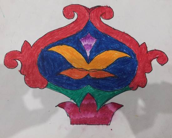 Freehand drawing, painting by Anushka Swapnil Parulekar