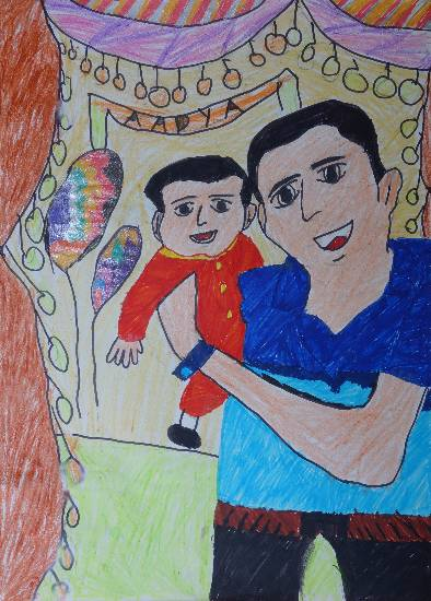 Painting  by Anushka Swapnil Parulekar - Father and Son