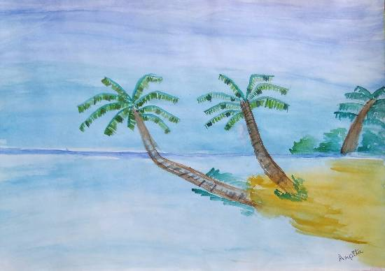 painting by Arpita Bhat - Beach