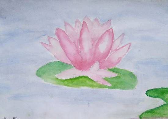 painting by Arpita Bhat - Lotus
