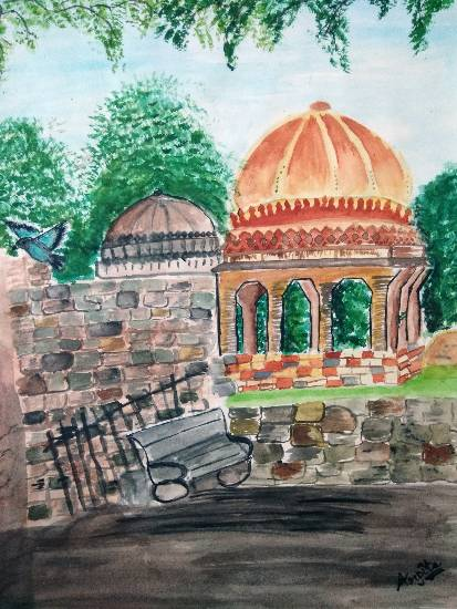 Painting  by Arpita Bhat - Historical Monument