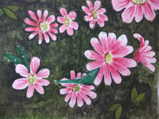 Pleasing Blossoms, painting by Arpita Bhat