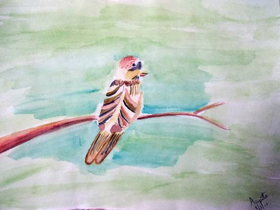 Painting  by Arpita Bhat - Sweet Sparrow