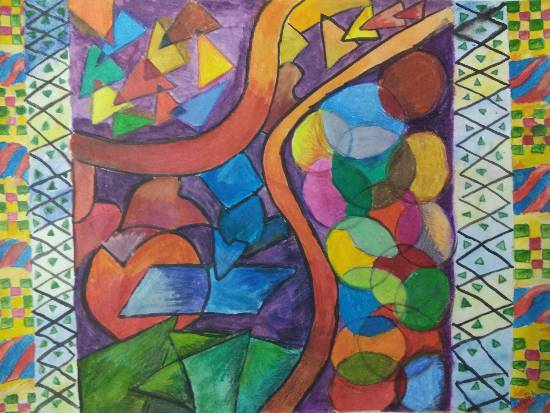 Painting  by Arpita Bhat - Abstract shapes